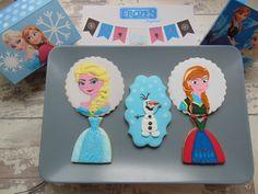 Galletas decoradas de Frozen-Frozen decorated cookies
