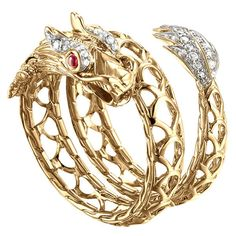 John Hardy Naga 18k Dragon Coil Ring ($2,600) ❤ liked on Polyvore featuring jewelry, rings, bracelets, gioielli, jewels, pearl jewellery, coil ring, bracelet jewelry, coil bracelet and 18 karat gold bracelet John Hardy Bracelet, John Hardy Jewelry, Contemporary Jewellery Designers, Gold Jewelry, Jewelry Rings, Pearl Jewelry, Pomellato, Gold Rings, Pearl Rings