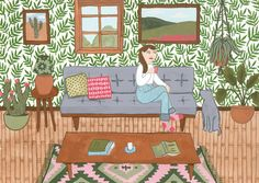 Dream Living room - Holly Maguire Illustration