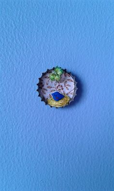 Nesting into a bottle cap. Verbena, Druzy Ring, Miniatures, Cap, Bottle, Rings, Jewelry, Recycling, Baseball Cap