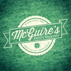 Logo (and t-shirt design) for McGuire's Irish Tavern in West Allis, Wisconsin.