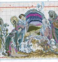Gallery.ru / Фото #51 - Las Labores de Ana 115 - Ka O Holy Night, Religious Cross, Christmas Cross, Christmas Ideas, Cross Stitching, Cross Stitch Patterns, Crafty, Embroidery, Canvas
