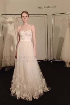 Mira Zwillinger 2014-2015 Collection #BridalMarket #BridalGowns #Romantic #Whimsical #Couture