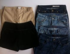 Women's Pants Lot of 5 + Shorts - American Eagle, DKNY Jeans, Ann Taylor, Size 6 #AmericanEagleOutfittersAE #ArtistSkinnyCapriFlare