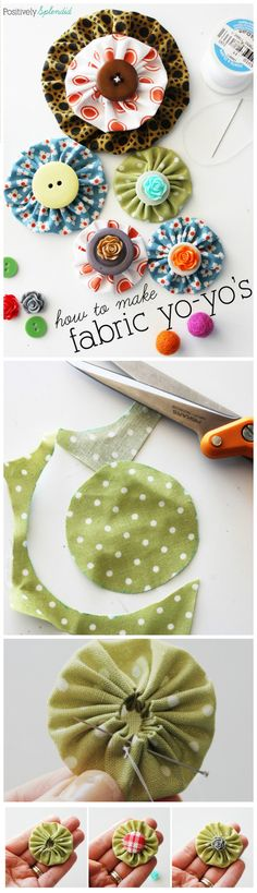 50 Easy Fabric Flowers Tutorial - Make Your Own Fabric Flowers - Page 8 of 10 - DIY & Crafts