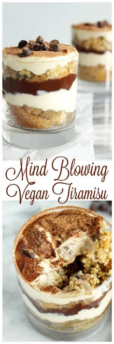 Mind Blowing Vegan Tiramisu - You won't believe it's vegan. Creamy, dreamy, and delicious. You can indulge in this classic fave free from eggs, dairy, and refined sugar. http://NeuroticMommy.com #vegan #desserts