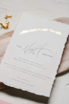 There's nothing like 'The Night Before' Make is extra special with the same elegance as your invitations