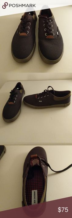 Ben Sherman Boat Shoes Size 12 Size 12, navy blue with checkered lining. Very stylish. Ben Sherman Shoes Boat Shoes