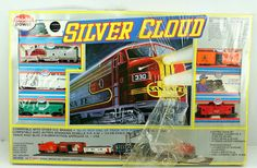 New HO Model Power Silver Cloud F3 Santa FE Electric Train Set | eBay