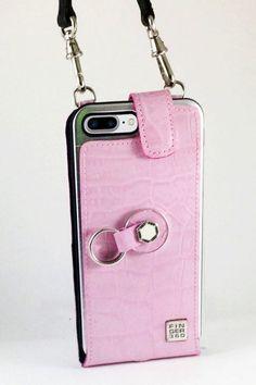#Funda #iphone #7 #plus #Sistema #Anticaidas #Colgar #cuello #Finger360 #Rosa