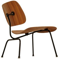 Rare zebra edition of the Eames LCM chair for Herman Miller #Eames #HermanMiller #MidCenturyModern