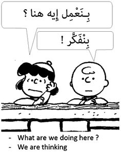 present continuous in Arabic Egyptian dialect