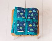 Chenille Baby Blanket/Whales/Green, Blue, Yellow and Teal