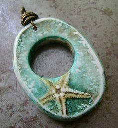 starfish pendant - polymer clay