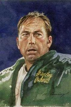 Bart Starr, Green Bay Packers by Merv Corning