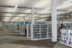 The second floor of the newly renovated Ames Public Library features the adult services section. Photo by Melissa Erickson/Ames Tribune