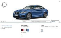 The Bavarian marque has set up an online configurator for the recently unveiled 2014 Coupe. Bmw 2, Paint Finishes, Exterior Paint, Metals, Cars, Cutaway, Paint Lamps, Autos, Car