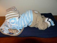 Junge schlafende Baby Diaper Cake von erinjhazen auf Etsy
