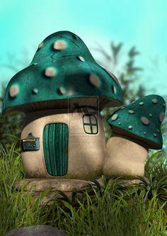 Blue Mushroom House
