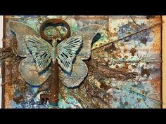 """(5) Mixed media canvas """"Butterfly"""" - YouTube"""