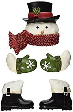 Grasslands Road Winter Wonder Snowman with Top Hat Outdoor Tree Hugger, Gift Boxed