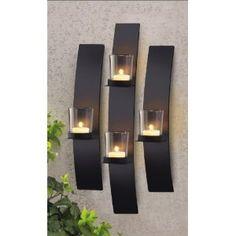 Metal Modern Art Wall Mount Candle Votive Holder Sconce Set. Disclaimer affiliate link