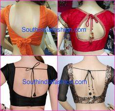 saree blouse neck models