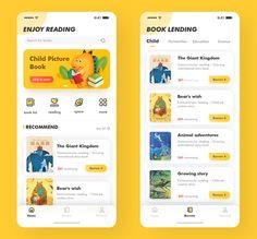 Children's Education Reading App 01 by 林萌C child ui app book appdesign 412079434654095175 Android App Design, Ios App Design, Android Ui, Interface Design, Ui Design Mobile, Mobile Application Design, Wireframe, Web Mobile, App Design Inspiration