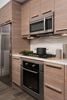 Contemporary Kitchen Design Ideas, Pictures, Remodel and Decor Kitchen Room Design, Kitchen Cabinet Design, Modern Kitchen Design, Home Decor Kitchen, Kitchen Interior, Home Kitchens, Kitchen Cabinets, Kitchen Cupboard, Modern Design