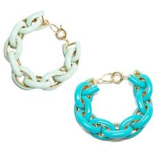 T&J Designs Enamel Link Bracelets. T&J Designs Enamel Link Bracelets. (Mint or Turquoise).  Please do not purchase this listing.  Will set up separate one for you.  Just let me know what color you are interested in!  I have 5 in mint and 5 in turquoise. T&J Designs Jewelry Bracelets