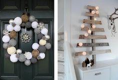 8x Diy Kerstdecoratie : Best design kerstdecoratie images christmas