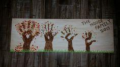 Family fall tree hands