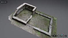 A Quick Overview of Processing Pictures Into a Model Screenshot of a model of tabby slave cabin foundations and walls from Kingsle. 3d Things, Point Cloud, Remote Sensing, Camera Shots, 3d Design, Three Dimensional, Archaeology, Game Art, Objects