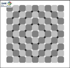 "Optical Illusions 41 from Zane Education at http://www.zaneeducation.com - Today's Optical Illusion ... ""Zabuton"" - Japanese cushion    This checkered background consists of squares but appears to be distorted. In addition, this figure shows a great amount of anomalous motion illusion. Try scrolling up and down the page and see the ""new"" design jump out at you"