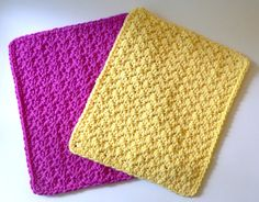 Free dishcloth pattern with a cool chunky stitch... 1sc and 1 dc in every second stitch and can make it any size you like!