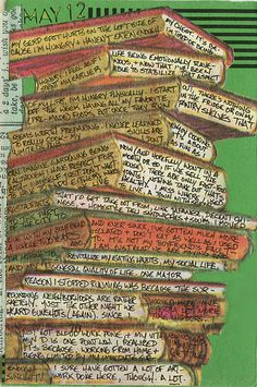 Journal page....like the concept of journaling on the edges of the pages of books, aren't we writing our own story?