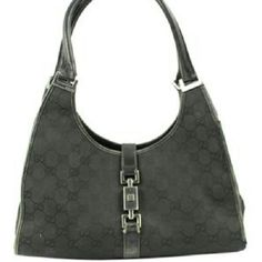 """Piston Monogram Hobo Bag   BG-#6920788"" Gucci Hobo Bag in good condition with minor scratches outer hardware and some stains on the interior fabric. Gucci Bags Hobos"