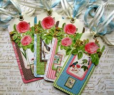 Mother's Day Bookmarks tutorial by Maria Cole using Graphic 45 Botanical Tea!