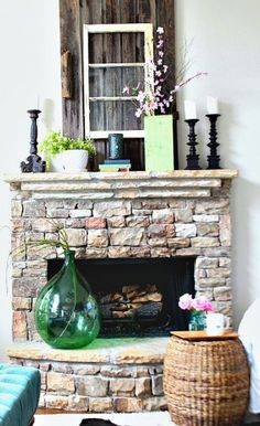 Spring Green Mantel at Refresh Restyle