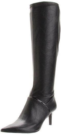 Nine West Women's Shoes Alice Eve Black Fashion Knee High Boots Size 8.5, 9, 10 #NineWest #FashionKneeHigh
