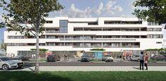 Woon-winkelcomplex Columbus in @almere poort, ontwerp Erick van Egeraat, officieel geopend: