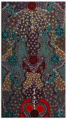 Dreamtime Sisters by Colleen Wallace Nungari from Utopia, Central Australia created a 93 x 123 cm Acrylic on Belgian Linen painting SOLD at the Aboriginal Art Store Indigenous Australian Art, Indigenous Art, Aboriginal Culture, Aboriginal People, Aboriginal Dot Painting, Wow Art, Art Abstrait, Outsider Art, Native Art