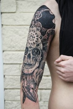 skull and flower tattoos are my favorite.