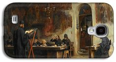 Refectory Galaxy S4 Cases - Refectory in a Greek Monastery. Mount Athos Galaxy S4 Case by Theodoros Rallis