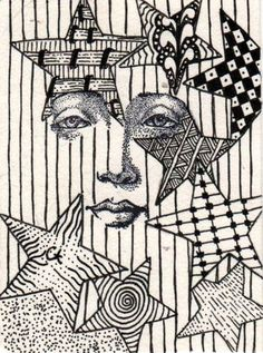 Zentangle faces | face zentangle 001 | Flickr - Photo Sharing!