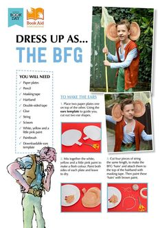 Roald Dahl BFG costume kit for world book day or book week. Bfg Costume, Book Costumes, World Book Day Costumes, Book Week Costume, Costume Ideas, Roald Dahl Costumes Kids, Diy Costumes, Book Characters Dress Up, Character Dress Up