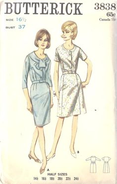 60's Button down Blouse and Dress