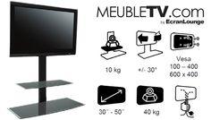 Meuble TV Colonne Erard Studio 1000