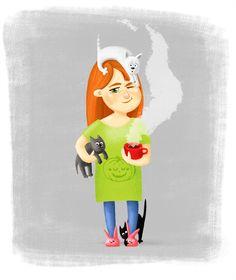 Посмотреть иллюстрацию Маргарита Кухтина - Good morning.