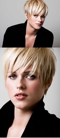 GREAT CUT.  ITS FUNNY AS LONG AS TOP LAYER OF SHORT HAIR OR BANGS LONG GIVES U THE FEELING OF LONGER HAIR. SO EASY TO CARE FOR AND ALWAYS LOOKS GREAT EVEN WHEN FIRST WAKE UP. LITTLE TO NO WORK INVOLVED IF U ARE A WOMAN ON THE GO.    Textured short cut